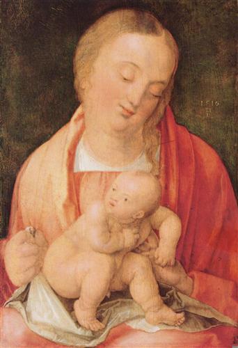 Плакат Maria mit dem hockenden Kind