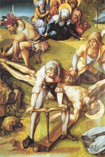 Постер на подрамнике Die sieben Schmerzen Maria, Mitteltafel (Szene