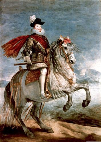 Постер на подрамнике Felipe III caballo
