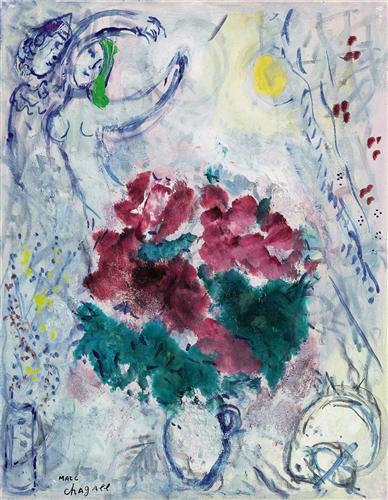 Плакат Danse au bouquet rouge
