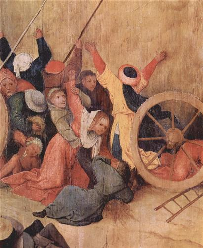 Постер на подрамнике Heuwagen, Triptychon, Mitteltafel