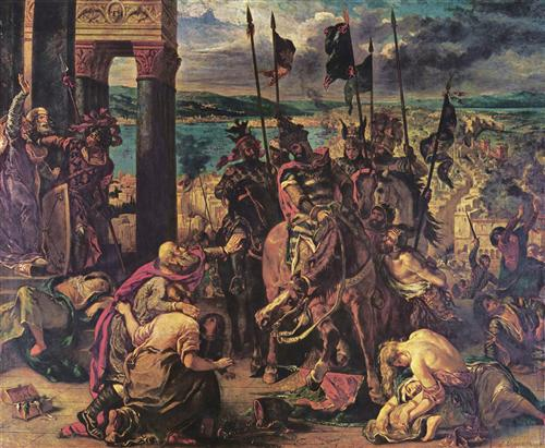Плакат The Entry of the Crusaders into Constantinople