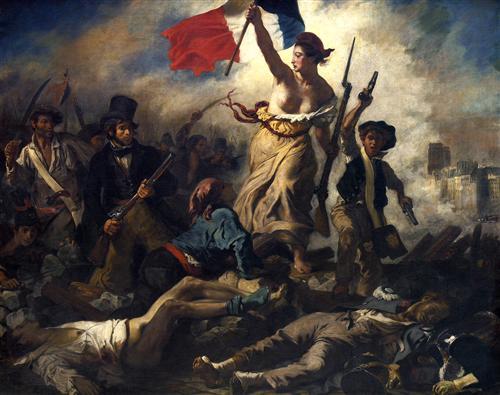 Постер на подрамнике La liberte guidant le peuple