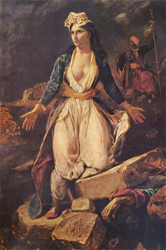 Постер на подрамнике Greece Expiring on the Ruins of Missolonghi