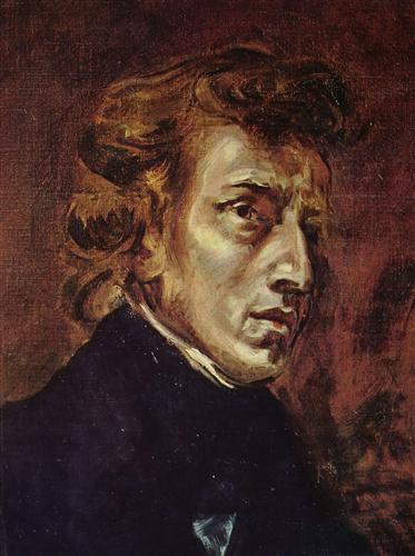 Постер на подрамнике Frederic Chopin as portrayed by Eugene Delacroix