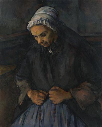 Постер на подрамнике An Old Woman with a Rosary