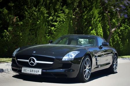 Постер на подрамнике Mercedes SLS AMG (Мерседес чайка)