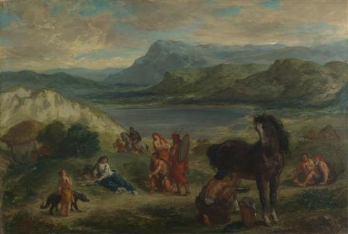 Постер на подрамнике Ovid among the Scythians