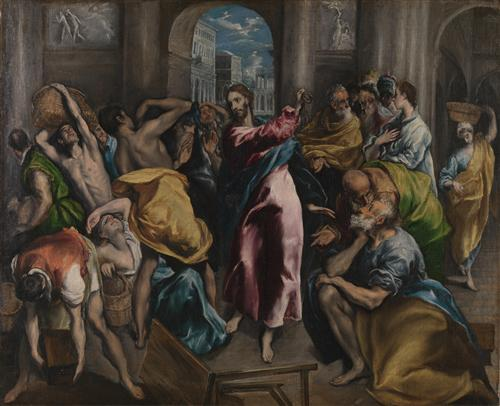 Плакат Christ driving the Traders from the Temple