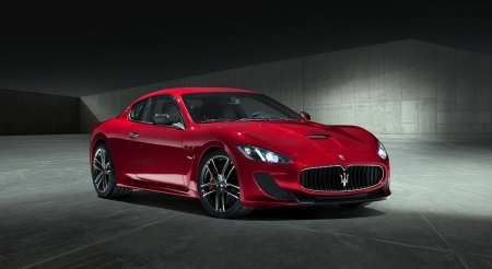 Постер на подрамнике Красный Мазерати (Maserati)