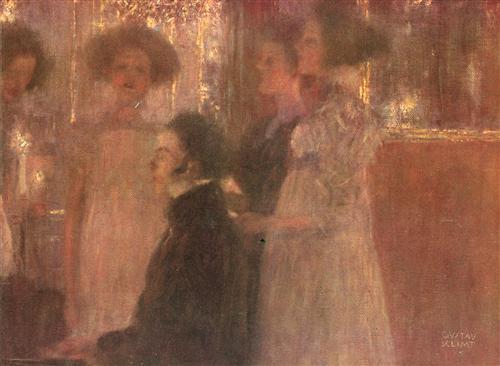Плакат Schubert am Klavier (Entwurf)