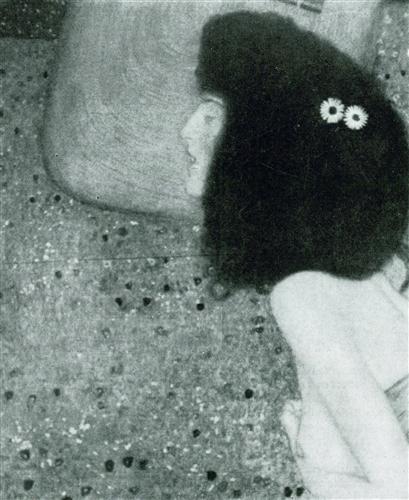Плакат Madchen mit blauem Schleier