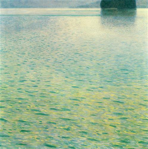 Постер на подрамнике Insel im Attersee