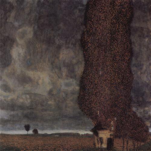 Плакат Die grosse Pappel II (Aufziehendes Gewitter)