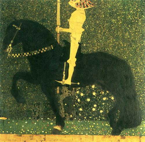 Постер на подрамнике Das Leben ein Kampf (Der goldene Ritter)
