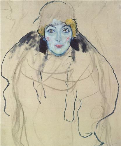 Постер на подрамнике Damenbildnis en Face
