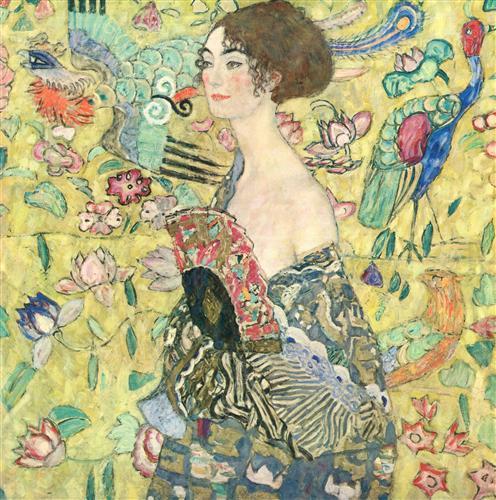 Постер на подрамнике Dame mit Facher