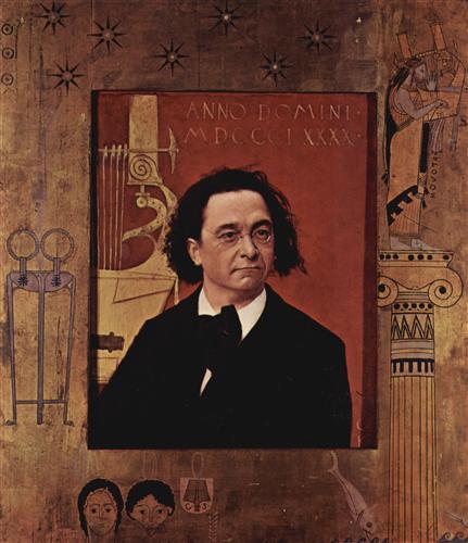 Постер на подрамнике Bildnis des Pianisten und Klavierpadagogen Joseph Pembauer