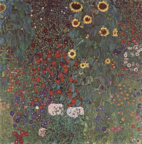 Постер на подрамнике Bauerngarten mit Sonnenblumen