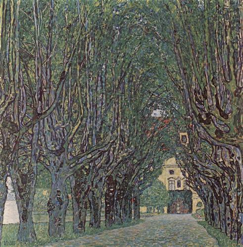 Постер на подрамнике Allee im Park von Schloss Kammer