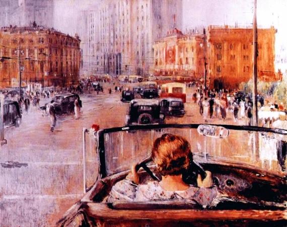 Постер на подрамнике Пименов - Новая Москва