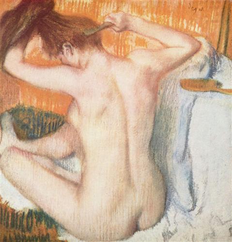 Постер на подрамнике Frau bei der Toilette