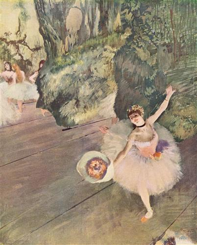 Постер (плакат) Tanzerin mit Blumenstrau? (Der Star des Balletts)