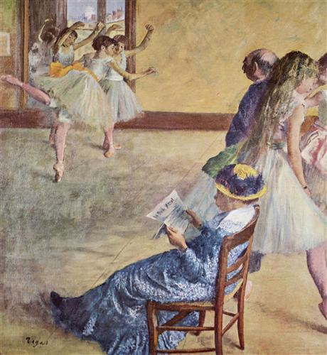 Постер на подрамнике Wahrend des Tanzunterrichts