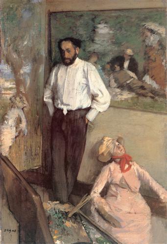 Постер на подрамнике Portrait of the Painter Henri Michel-Levy