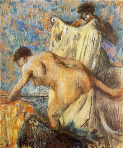 Постер на подрамнике Femme sortant du bain
