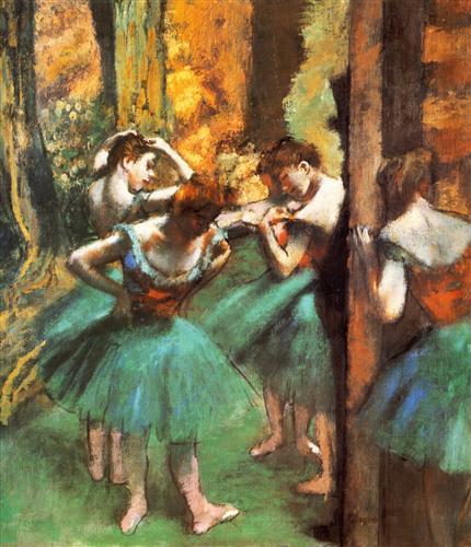 Плакат Danseuses roses et vertes