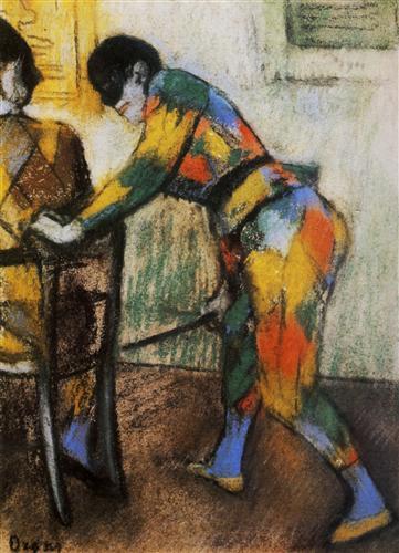Постер на подрамнике Deux arlequins
