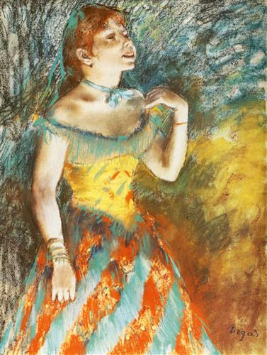 Постер на подрамнике La Chanteuse verte, chanteuse de cafe-concert