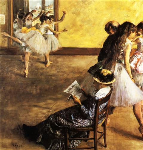 Постер на подрамнике Classe de Ballet, salle de danse
