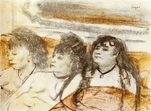 Плакат Trois filles assises de face