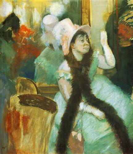 Постер на подрамнике Portrait apres un bal costume, mme Dietz-Monnin  Gouache