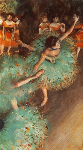 Постер на подрамнике Danseuses basculant, Danseuses vertes