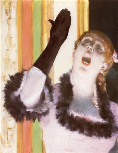 Постер на подрамнике Chanteuse de Cafe, la chanteuse au gant