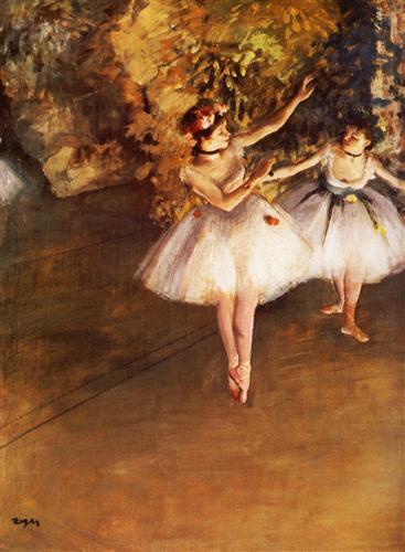 Постер на подрамнике Deux danseuses en scene