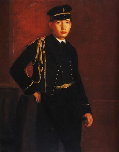 Постер на подрамнике Achille de Gas en aspirant de marine