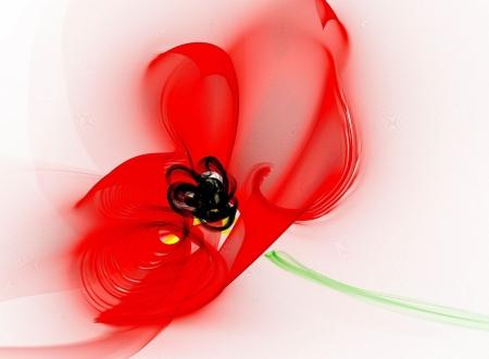 Постер на подрамнике Красный цветок
