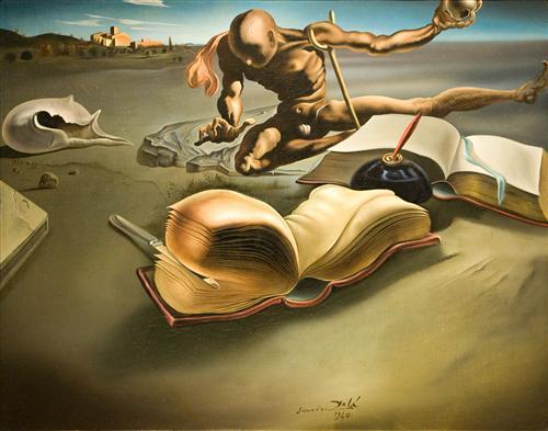 Постер на подрамнике Book Tranforming Itself Into a Book