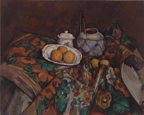 Постер на подрамнике Still Life with Ginger Jar, Sugar Bowl, and Oranges