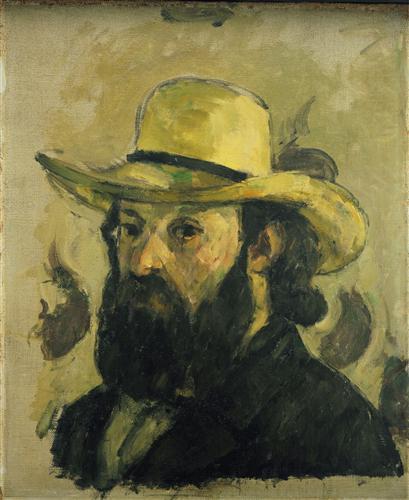 Постер на подрамнике Self-Portrait in a Straw Hat