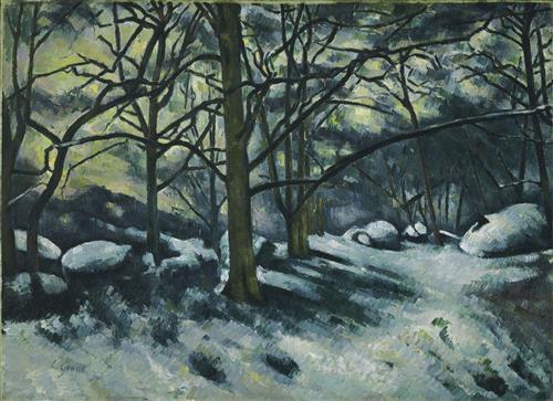 Постер на подрамнике Melting Snow, Fontainebleau