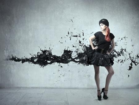 Плакат Девушка в черном