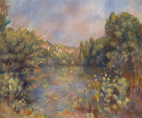 Постер на подрамнике Lakeside Landscape