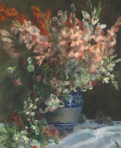Постер на подрамнике Gladioli in a Vase