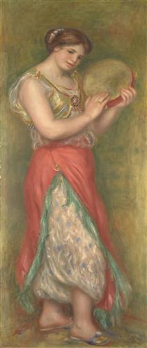 Постер на подрамнике Dancing Girl with Tambourine
