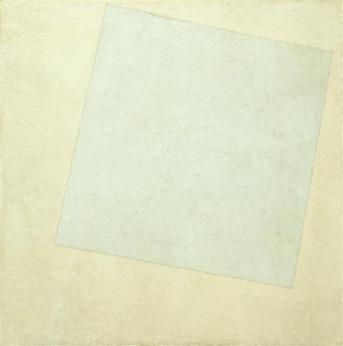 Плакат Suprematist Composition White on White